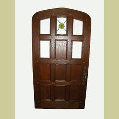FABULOUS VINTAGE 1930'S TUDOR ARCHED ENTRY DOOR W/JAMB & STONE SURROUND