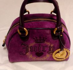 JUICY COUTURE Handbag SPEEDY Purse PURPLE+ Hangtag NWT  #JuicyCouture