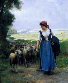 The Young Shepherdess , by Julien Dupre