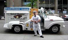 Good Humor truck every summer with out fail he would cruse the neighborhood streets.