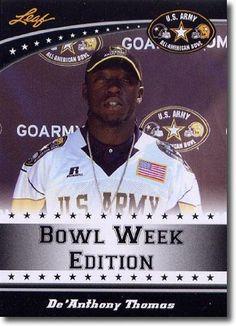 2011 Leaf US Army All-American Bowl Week Edition #West-09 DeAnthony Thomas WR - OREGON / Crenshaw High School (RC - Rookie Card) (Football Cards) by Leaf US Army All-American Bowl Week Edition. $4.94. 2011 Leaf US Army All-American Bowl Week Edition #West-09 DeAnthony Thomas WR - OREGON / Crenshaw High School (RC - Rookie Card) (Football Cards)