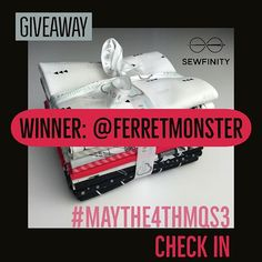 #maythe4thmqs3 Check in giveaway winner is @ferretmonster - congratulations! Enjoy!  Thank you so so much Angela @sewfinity and @camelot_fabrics for the generosity and your support!