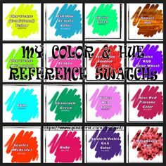 ◧MY COLOR SWATCHsⁿName◨ CLICK ON THE PIN, IT IS LINKED TO THE BOARD!