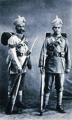 Indian soldiers of the British Army stationed In Tientsin China in 1911.