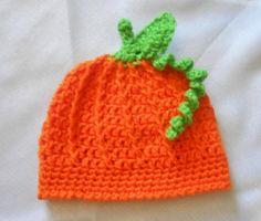 Newborn Pumpkin Beanie by CharleeAnn