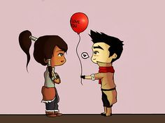 cute cartoon    ______________________________________________________________  Chibi Makorra comic I drew yesterday in which Mako just wants more kisses. :3