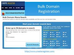 Register your bulk domains and check domain availability with our bulk domain name registration process.