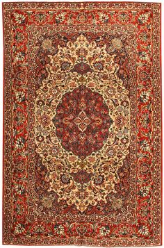 Antique Esfahan Persian Rug 43281