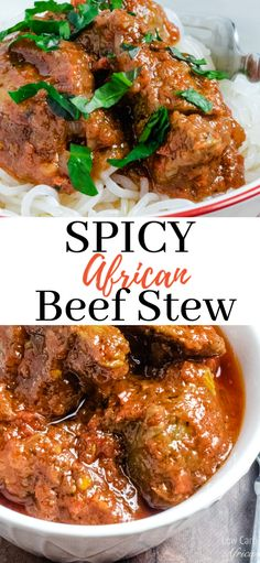 A spicy African beef stew recipe. Nigerian Beef Stew is a mouthwatering West African stew made with blended tomatoes, bell peppers, habanero pepper, and herbs. This will quickly become a favorite stew in your low carb journey! African Stew, West African Food, South African Recipes, West African Recipe, Oven Beef Stew, Easy Beef Stew, Spicy Beef Stew, Beef Bourguignon, Spicy Recipes