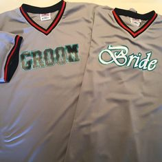 584343846 Cool Florida Marlins themed Bride   Groom with V-neck style major team  jersey.