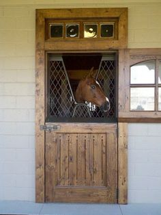 ....what a beautiful stall door!