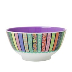 Melamine Bowl Two Tone with Tape Print