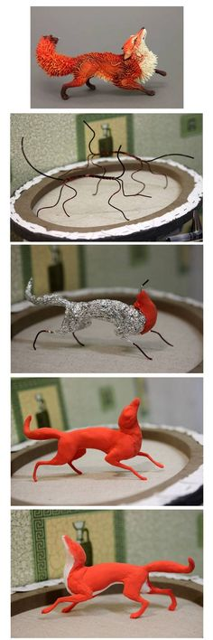 Commission fox progress by hontor on DeviantArt – CRAFTS Polymer Clay Figures, Polymer Clay Sculptures, Polymer Clay Animals, Polymer Clay Projects, Polymer Clay Creations, Sculpture Clay, Polymer Clay Art, Diy Clay, Clay Fox
