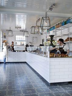 Love the white tiles // via interior magasinet