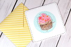 Created by Kristina with the Cupcake Party Stamp Set that will be in the July 2013 Card Kit by Simon Says Stamp.