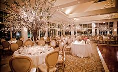 Tall flowering branches centerpieces