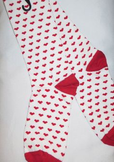Women's Heart Socks Hearts Valentines Day NEW Trouser 9-11 #HOTSOX #Casual