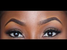EYEBROW TUTORIAL, ThatIgboChick on YouTube has a lot of amazing makeup tutorials for women of color. Can't wait to try some of her techniques.