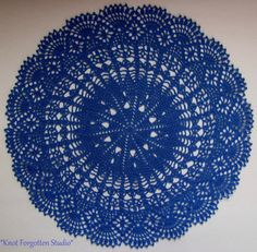 Cobalt Lace~   Finished June, 2015.  I used Hobby Lobby's Artiste size 10 thread.  The color is Cornflower.
