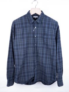 Margaret Howell - Dark Tartan Check Shirt by E-G.co