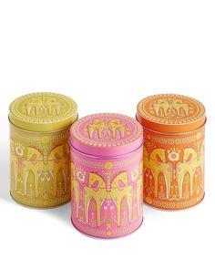 Set of 3 Marigold Tea, Coffee & Sugar Tins