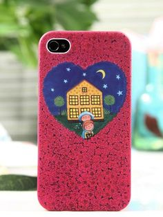 Heart Pattern Protective Case ForIPhone 4/4S - VeryShop.com