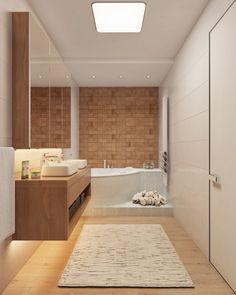 Amazing bathroom design with white color.... Visit : roohome.com #bath #bathroom #design #decoration #amazing #awesome #interior #creative #elegant #beautiful