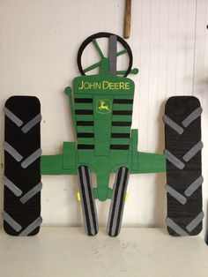 John Deere Tractor Fence Art by LynTasticDesigns on Etsy, $40.00