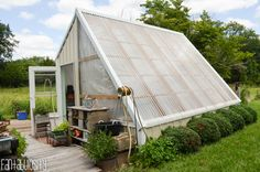 Greenhouse gardening, greenhouse design plan, green house ideas LOVE THIS!