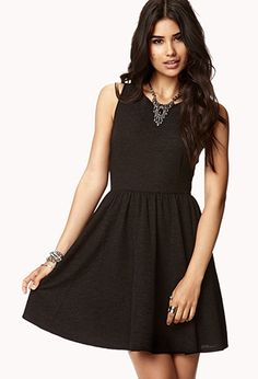 b73c03a8a3ed1 Crochet Lace Fit   Flare Dress
