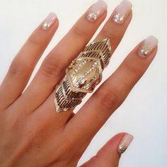 Tanya Kara Jewelry - Xena Gold Statement Ring on Poshmark
