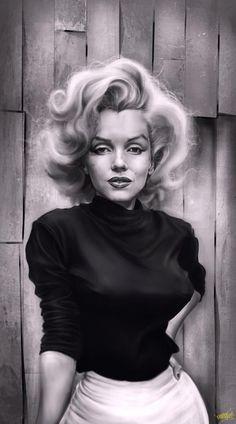 Marilyn Monroe caricature by Rafael Rivera