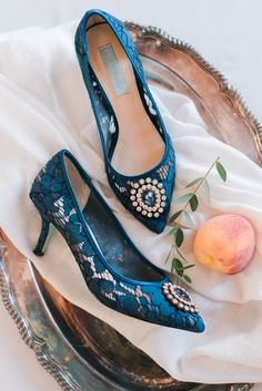 Blue wedding shoes -