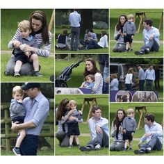 The Cambridge family were spotted going to at the Houghton International Horse Trials on May 29 2016. .