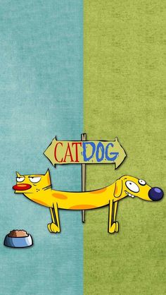 catdog tattoo cartoons Loved this show Cartoon Wallpaper, Wallpaper Iphone Cute, Cute Wallpapers, Wallpaper Backgrounds, Famous Cartoons, Old Cartoons, Cindy Crawford 90s, Cartoon Network Shows, Nickelodeon Cartoons