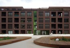 KAAN Architecten - St.Jacques-de-la-Lande, Rennes, France (2014) #housing #apartments #classic