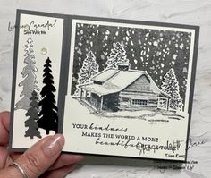 Christmas Catalogs, Christmas Houses, Beautiful Christmas Cards, Stampin Up Christmas, Stamping Up Cards, Thanksgiving Cards, Winter Cards, Flower Cards, Cardmaking