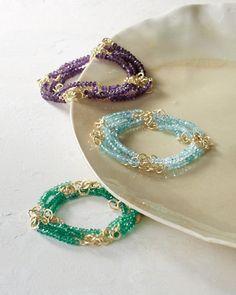 Nügaard Chain and Gem Long Bracelet