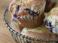 Cinnamon Dusted Einkorn Blueberry Muffins | Jovial Recipes