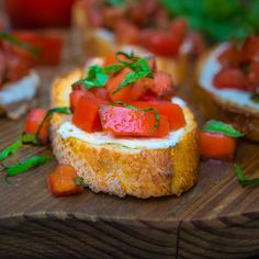 Tomato, mozzarella, and basil bruschetta…a versatile appetizer to start most any meal