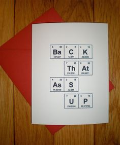 Valentines day periodic table of the by thebirdandthebeard 400 valentines day periodic table of the elements back that ass up 300 urtaz Choice Image