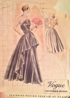 Vintage Vogue Couturier Design Evening Dress Pattern No. 436 Size 20 UNUSED!