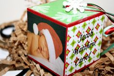 I want to make this -- Baby Christmas Ornament: Personalized  - Photo - Girl - Boy - Baby's First Christmas Ornament - Baby's 1st Ornament. $14.00, via Etsy.