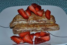 Strawberry & Cream Cheese Stuffed French Toast: Easy and Tasty Breakfast for only 6 WW Points+