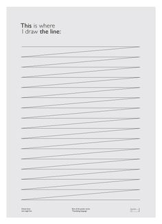 This Is Where I Draw The Line Poster by Martijn Michiel Maas