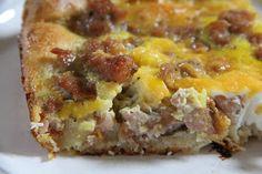 Mix and Match Mama: Sausage Crescent Breakfast Casserole