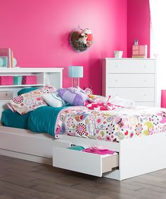 Another great find on #zulily! Pure White Vito Mates Twin Bed #zulilyfinds