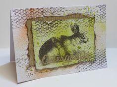 Simones Karten-Ecke - Handgestempelte Osterkarte mit Stempeln von LaBlanche - Hand stamped Easter card