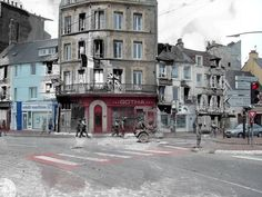 series of haunting photographs that overlay images from France during World War II with present-day pictures of the same locations