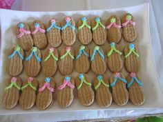 sandal cookies hawaiian-party-ideas